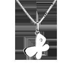 Mon petit papillon - grand modèle - or blanc 18 carats