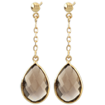 Narcissus Smoky Quartz Earrings