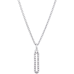 Naszyjnik Cartouche - białe złoto 18-karatowe wysadzane diamentami
