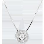 Naszyjnik z diamentem Ludmiła - złoto białe 9-karatowe