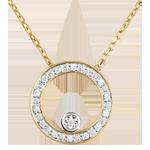 Naszyjnik Eleganckie Koło z żółtego złota 18-karatowego