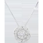 Naszyjnik Elsa - 15 diamentów - złoto białe 9-karatowe