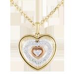 Naszyjnik w kształcie serca Orma z trzech rodzajów złota - 0,1 karata - trzy rodzaje złota 18-karatowego