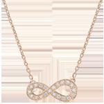 Naszyjnik Nieskończoność - złoto różowe 9-karatowe i diamenty