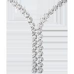 Naszyjnik Połączenie z diamentami - 2,4 karata - 76 diamentów - złoto białe 18-karatowe