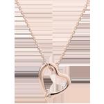 Naszyjnik Spacer w Wyobraźni - Wąż Miłości - wariacja mały model - złoto różowe 18-karatowe i diament