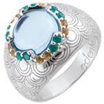 weddings Nausitha Ring - Silver and fine stones