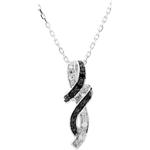 gifts woman Necklace Clair Obscure - Rendez-vous - white gold, black diamond