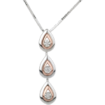 sell Necklace Dewdrop variation - white gold. rose gold - 18 carat