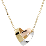 buy on line Necklace Folding Heart - 3 golds