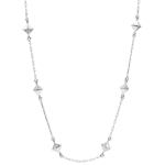on line sell Necklace Genesis - Rough Diamonds - White Gold - 9 carat