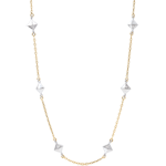 jewelry Necklace Genesis - Rough Diamonds - Yellow Gold - 9 carat