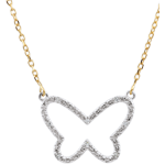 buy Necklace _ Imaginary Walk - Butterfly Cloud - 2 golds