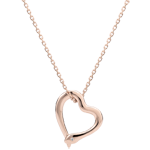Necklace Imaginary walk - Snake of love - small model - rose gold diamond- 9 carats