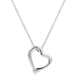gift woman Necklace Imaginary walk - Snake of love - small model - white gold diamond- 9 carats