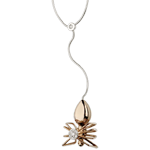 Necklace Imaginary Walk - Spider Queen - rose gold and diamonds