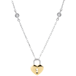 gift woman Necklace Precious Secret - Heart - Yellow Gold