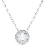 gifts woman Necklace Precious Secret - white gold and diamonds