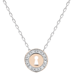 on line sell Necklace Precious Secret - white gold, rose gold and diamonds