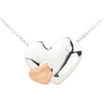 buy on line Necklace Sweet Hearts - Pink gold and white gold