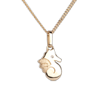 Niedliches Seepferdchen - Kleines Modell - Gelbgold