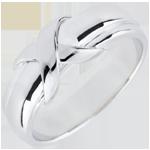 Obrączka Znak z białego złota 9-karatowego