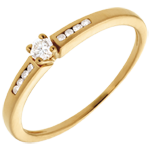 sell on line Octave Diamond Set Shoulder Ring in yellow gold - 9 diamonds