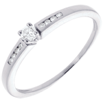 Octave Side Stone Ring white gold - 9 diamonds