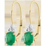 Online Verkauf Ohrhänger Exquisit - Smaragd und Diamanten