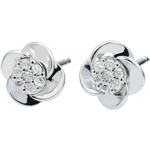 Juwelier Ohrringe Blüte - Rosenblüten - 18 Karat