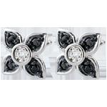 Ohrringe Dämmerschein - Schwarze Lilien - Schwarze Diamanten