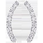 Ohrringe - Equilibrio - 375er Weißgold und Diamanten