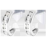 Ohrringe Halbmond in Weißgold - 0.41 Karat - 12 Diamanten