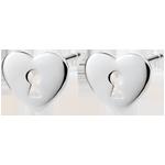 Geschenk Ohrringe Kostbares Geheimnis - Herz - Weißgold