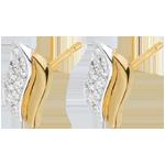 Ohrringe Magische Ikonen - Gelbgold und Weißgold mit Diamanten