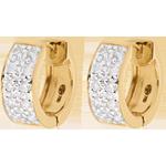 Schmuck Ohrringe Sternbilder - Himmelskörper Veränderung - Großes Modell - Gelbgold - 0.2 Karat - 20 Diamanten