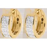 Verkauf Ohrringe Sternbilder - Himmelskörper Veränderung - Kleines Modell - Gelbgold - 0.12 Karat - 24 Diamanten