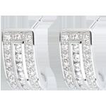 Ohrringe Sternbilder - Himmelszeichen - Weißgold und Diamanten