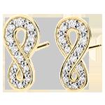 Ohrringe Unendlichkeit - Gelbgold und Diamanten