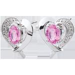 Juweliere Ohrstecker Herz Himbeere