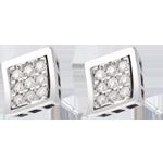 Juwelier Ohrstecker Karo in Weissgold - 0.27 Karat - 18 Diamanten