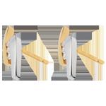 Geschenk Frauen Ohrstecker Kostbarer Kokon - Abschweifung - zweierlei Gold - 18 Karat