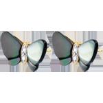 Geschenke Ohrstecker Spaziergang der Sinne - Perlmutt Schmetterling - Perlmutt und Diamanten