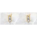 Online Verkauf Ohrstecker Spaziergang der Sinne - Perlmutt Schmetterling - Perlmutt und Diamanten