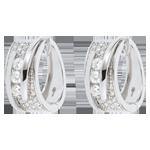 verkopen Oorbellen Betovering - Strakke Koord - Wit goud - 0.73 karaat - 64 Diamanten