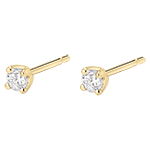 Oorbellen Diamant - Geel Goud - 0.2 karaat