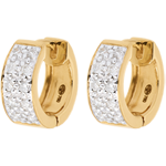 Oorbellen Sterrenbeeld - Astraal - groot model - geel goud - 0,2 karaat - 20 diamanten