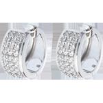 cadeaus Oorbellen Sterrenbeeld - Astraal - groot model - geplaveid wit goud - 0,43 karaat - 54 diamanten