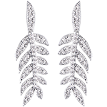 Orecchini Alloro di Gloria - oro bianco 18 carati e diamanti