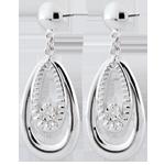 Orecchini Doria - Oro bianco - 9 carati - 2 Diamanti